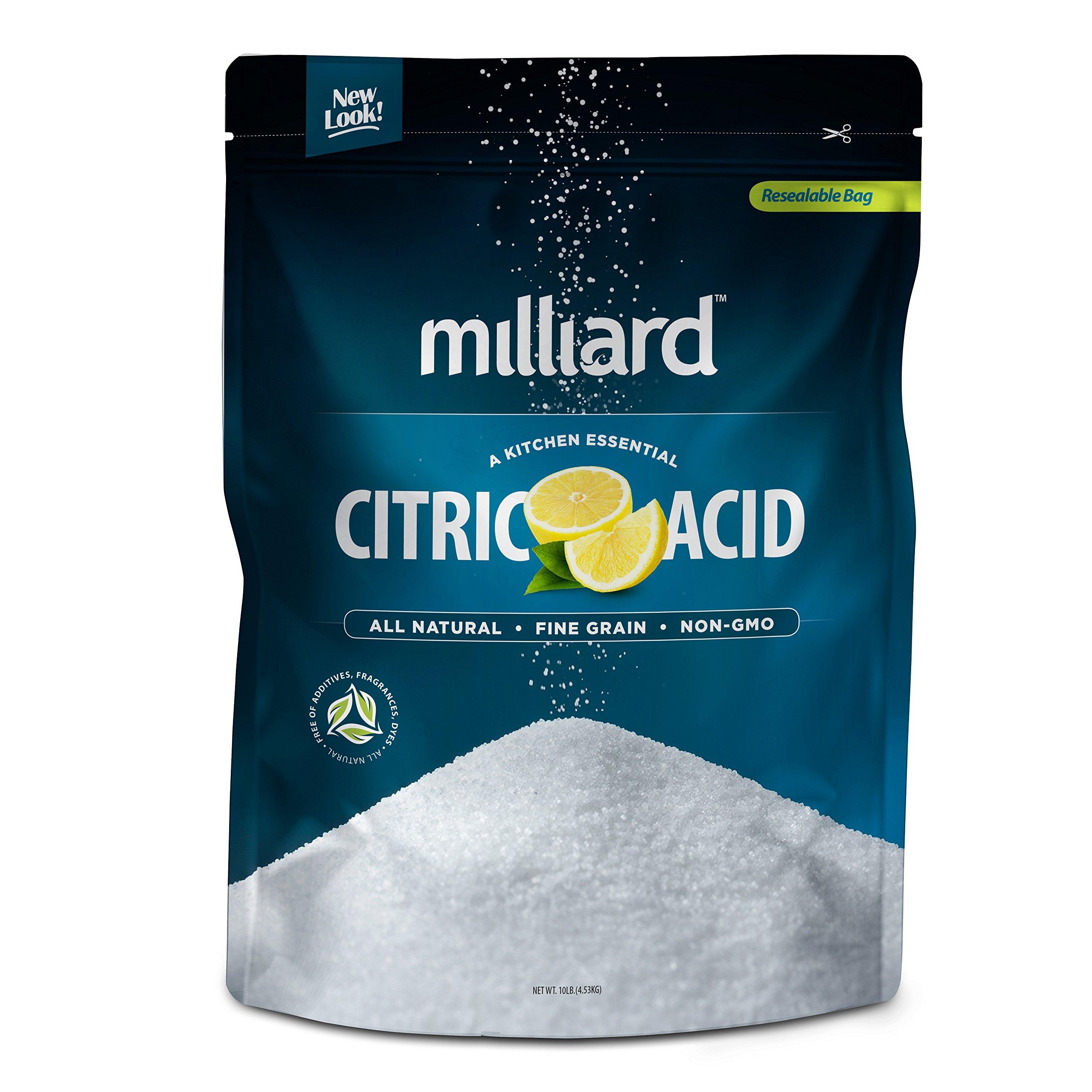 Milliard Citric Acid - 10 Pound - 100% Pure Food Grade NON-GMO (10 Pound)