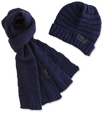 1d64f484e77 Diesel - Bonnets - Homme - Coffret bonnet et écharpe marine Mas pour homme  - TU