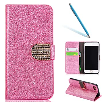 1d3662f5afc CLTPY iPhone 5s Funda Cartera, Cubierta del Estilo del Libro del Flip  Leather Wallet Cover