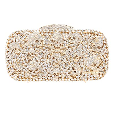 11f116518b5 Fawziya Skull Purses And Handbags Party Clutches For Womens Evening Bags- Gold