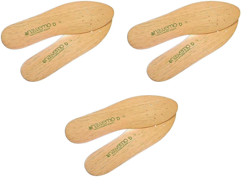 Einlegesohlen aus Zedernholz für Damen (3er Pack / 3 Paar) - die Original Premium Zedernsohlen von Nawemo - isolierend, bestes Fußklima gegen Schweißfüße, Fußgeruch, Fußpilz Fußgeruch Fußpilz