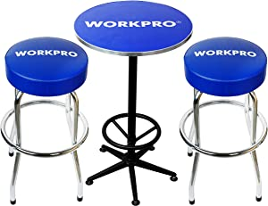 WORKPRO Workshop Table & Two Stool Combo, W004401A, Table & Stool Combo