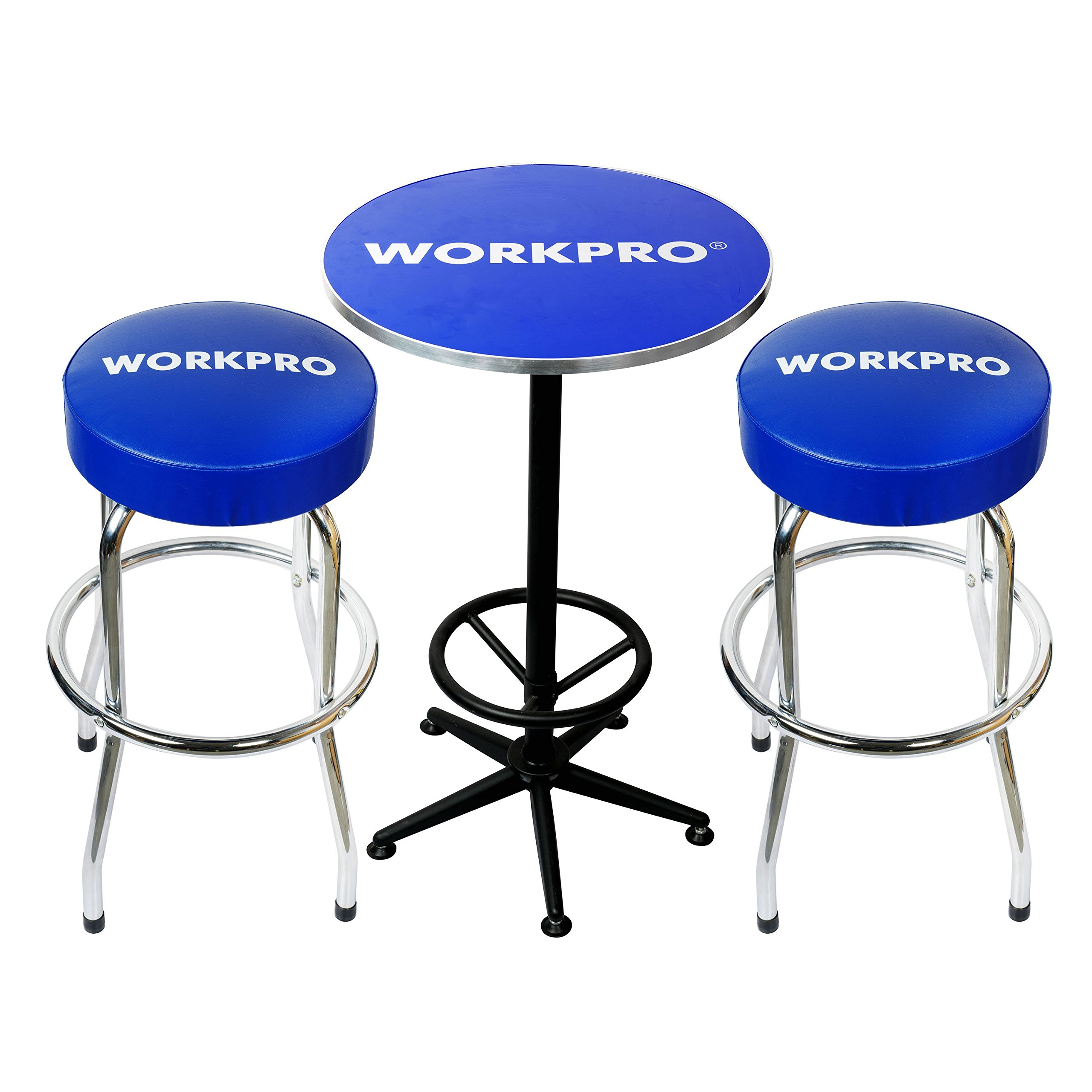 WORKPRO W004401A Workshop Table & Two Stool Combo