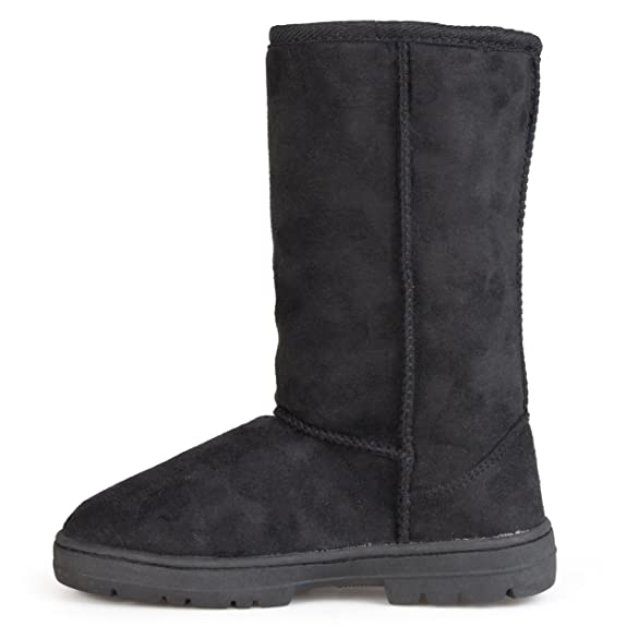 Amazon.com | Journee Collection Boots Faux Suede Lug Sole Boot (6.5 B(M) US, Black) | Mid-Calf