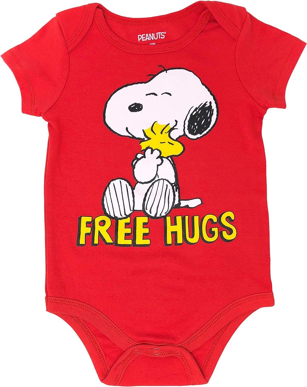 Peanuts Snoopy Baby Boys/' 4 Pack Bodysuits Charlie Brown Woodstock Joe Cool