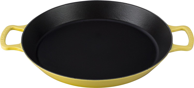 Le Creuset L2064-346M, 3 1/4-Quart, Marine Enameled Cast Iron 3.25QT. Paella Pan, 3.25 Quart