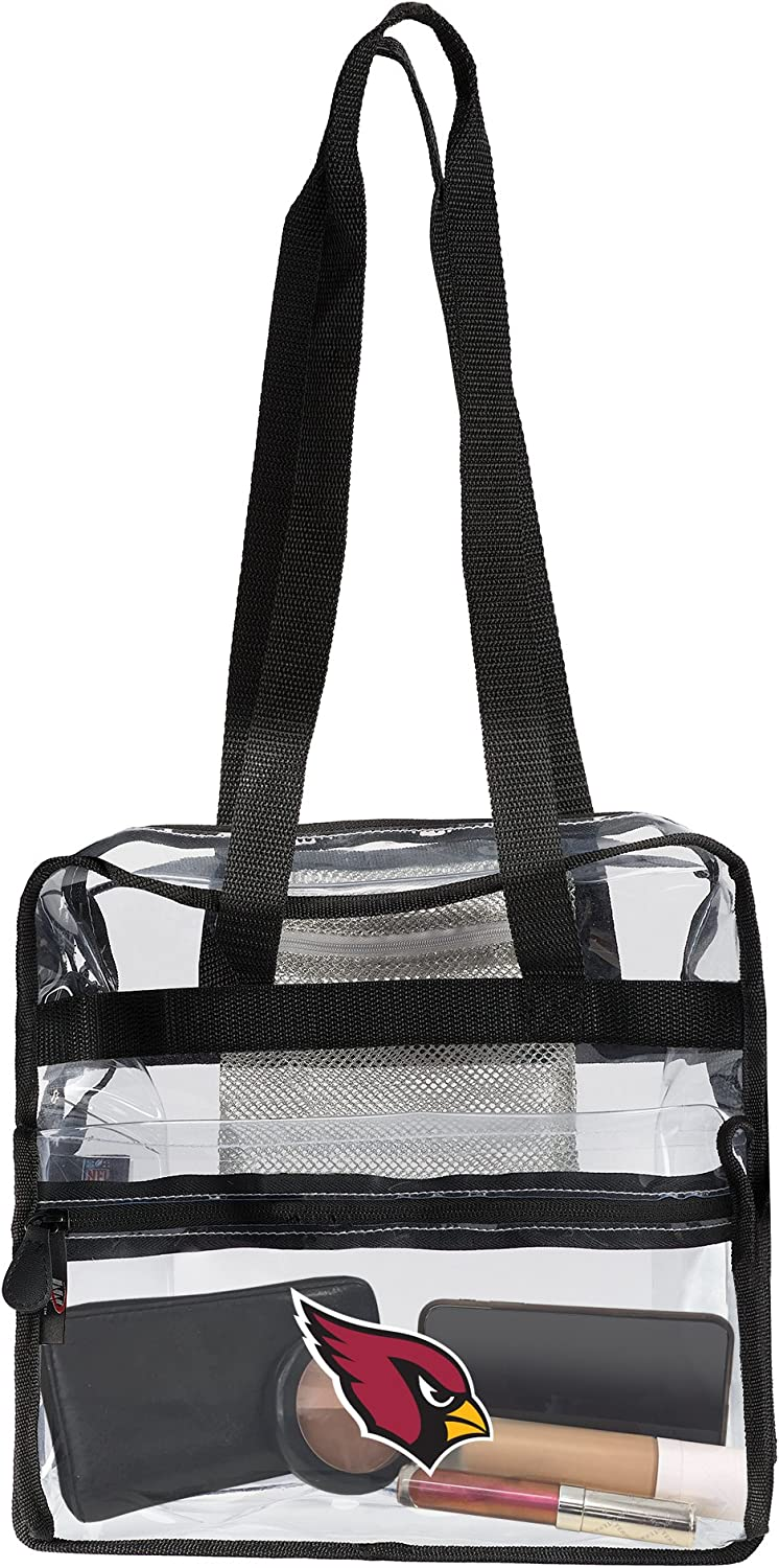 Officially Licensed NFL Clear Zone Stadium Friendly Tote Clear 12 x 5 x 12