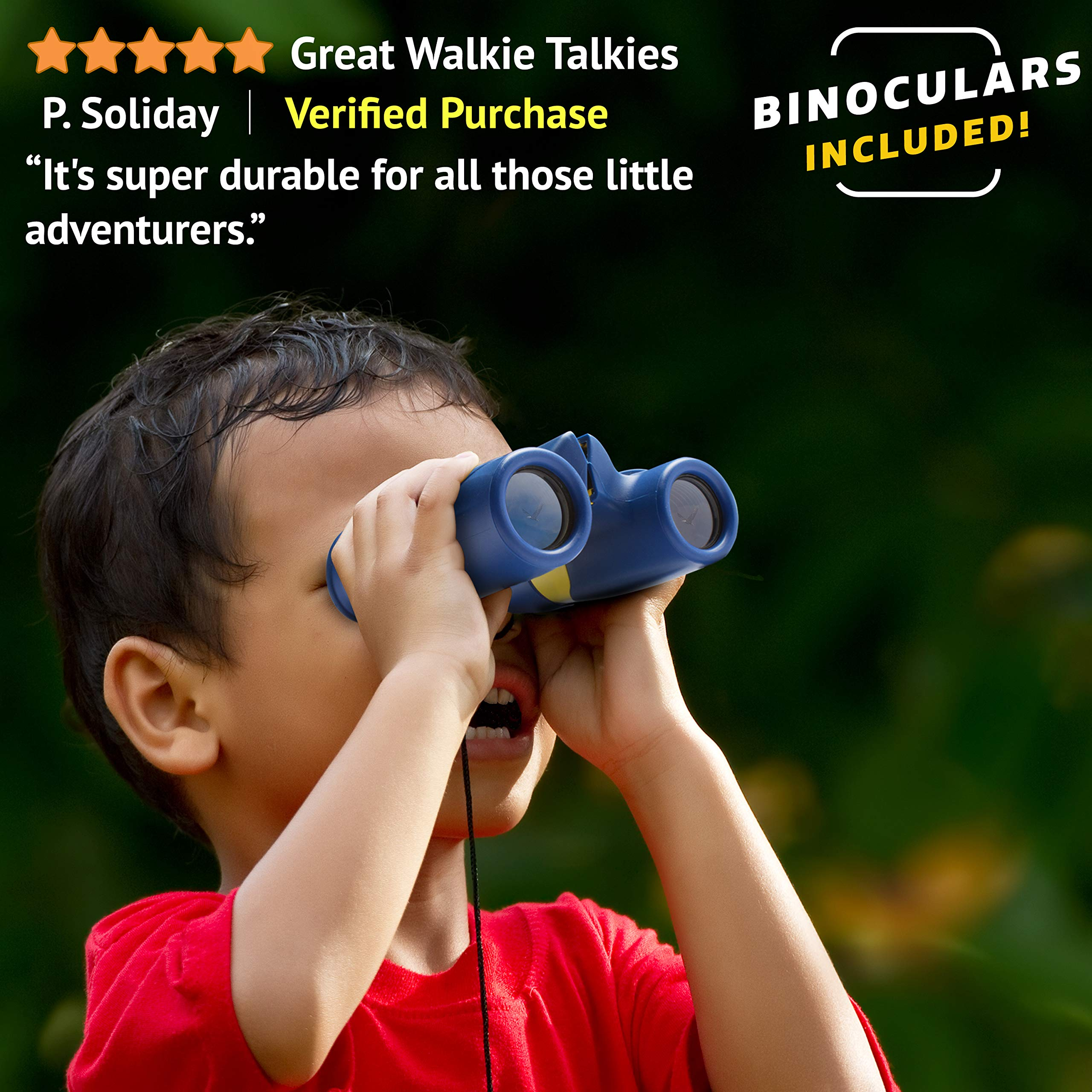 USA Toyz Walkie Talkies with Binoculars for Kids - Vox Box Voice Activated Walkie Talkies for Boys or Girls, Long Range Walkie Talkie Toys Set by USA Toyz (Image #4)
