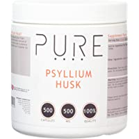 Bodybuilding Warehouse 500 mg Pure Psyllium Husk 500 Capsules