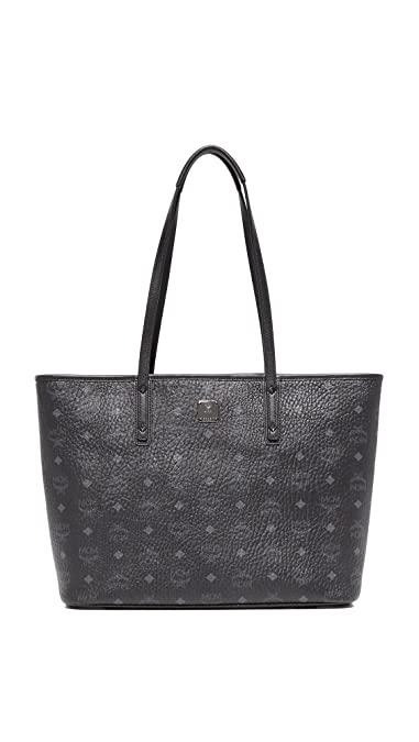 200eddca3 MCM Women's Anya Zip Top Shopper Tote, Black, One Size: Handbags: Amazon.com