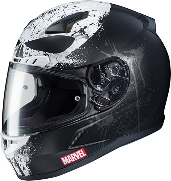 HJC Marvel Unisex-Adult CL-17 Punisher 2 Motorcycle Full Face Helmet (MC-5SF