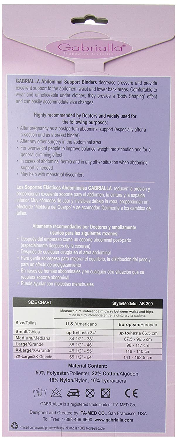Amazon.com: Gabrialla Breathable Abdominal Support Binder-Black-Medium: Health & Personal Care