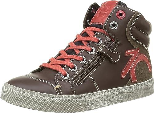 Kickers Custom, Sneakers Hautes Garçons, Marron (Marron