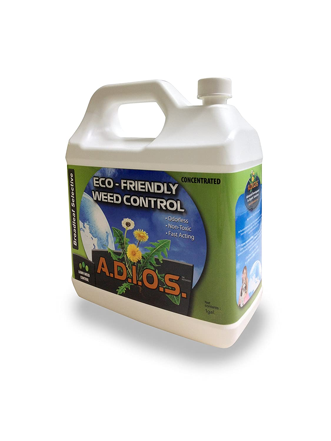 A.D.I.O.S. Selective Organic Weed Killer 4L Concentrate, (packaging may vary)