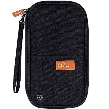 Passport Pouch Travel Wallet Passport Money Cash Document Safe Keep Carry Holder Orange