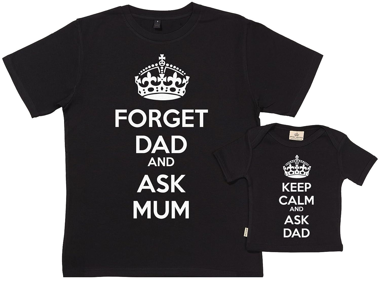 SR - Exklusive Geschenkbox - Keep Calm Ask Dad 100% Biobaumwolle - Vatertagsgeschenk Set für Papa in Geschenkbox NDCARRY7SETP