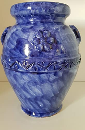 Vasi In Ceramica Di Vietri.Portafiori Vaso Colorato Blu Per Piante E Fiori Ceramica