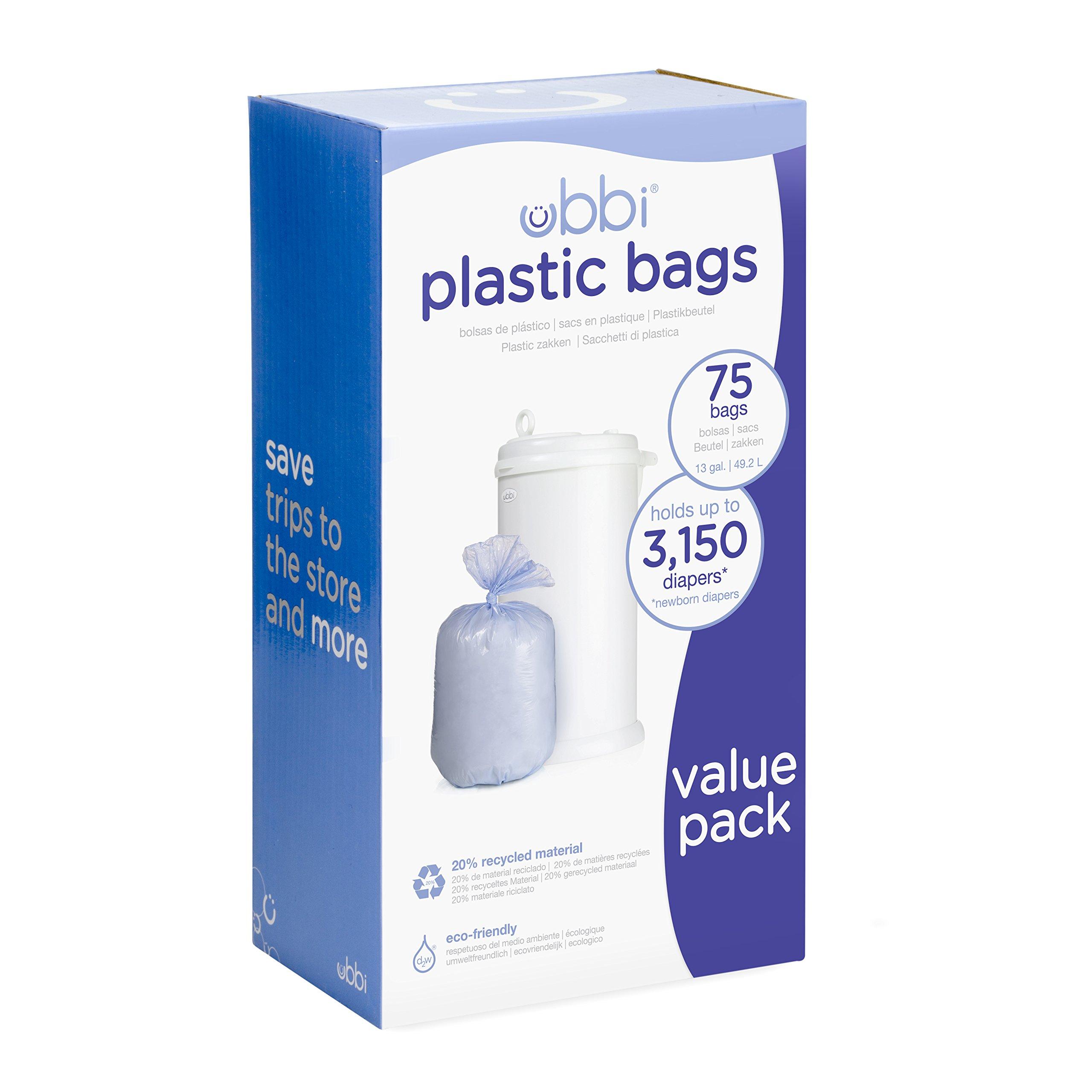 Ubbi Plastic Bags, 75 - Pack, 3 - Count by Ubbi