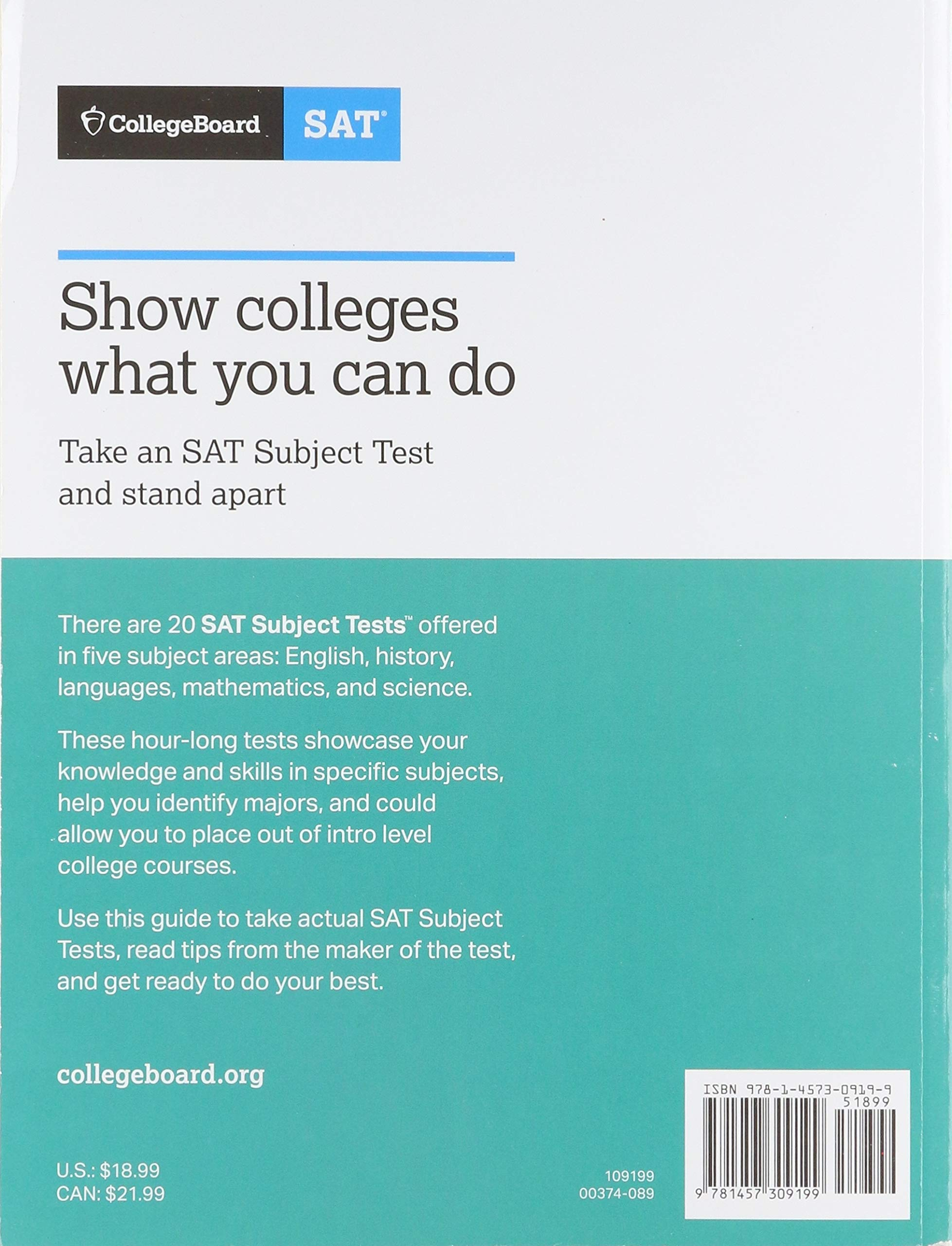 Buy The Official SAT Subject Test in Chemistry Study Guide