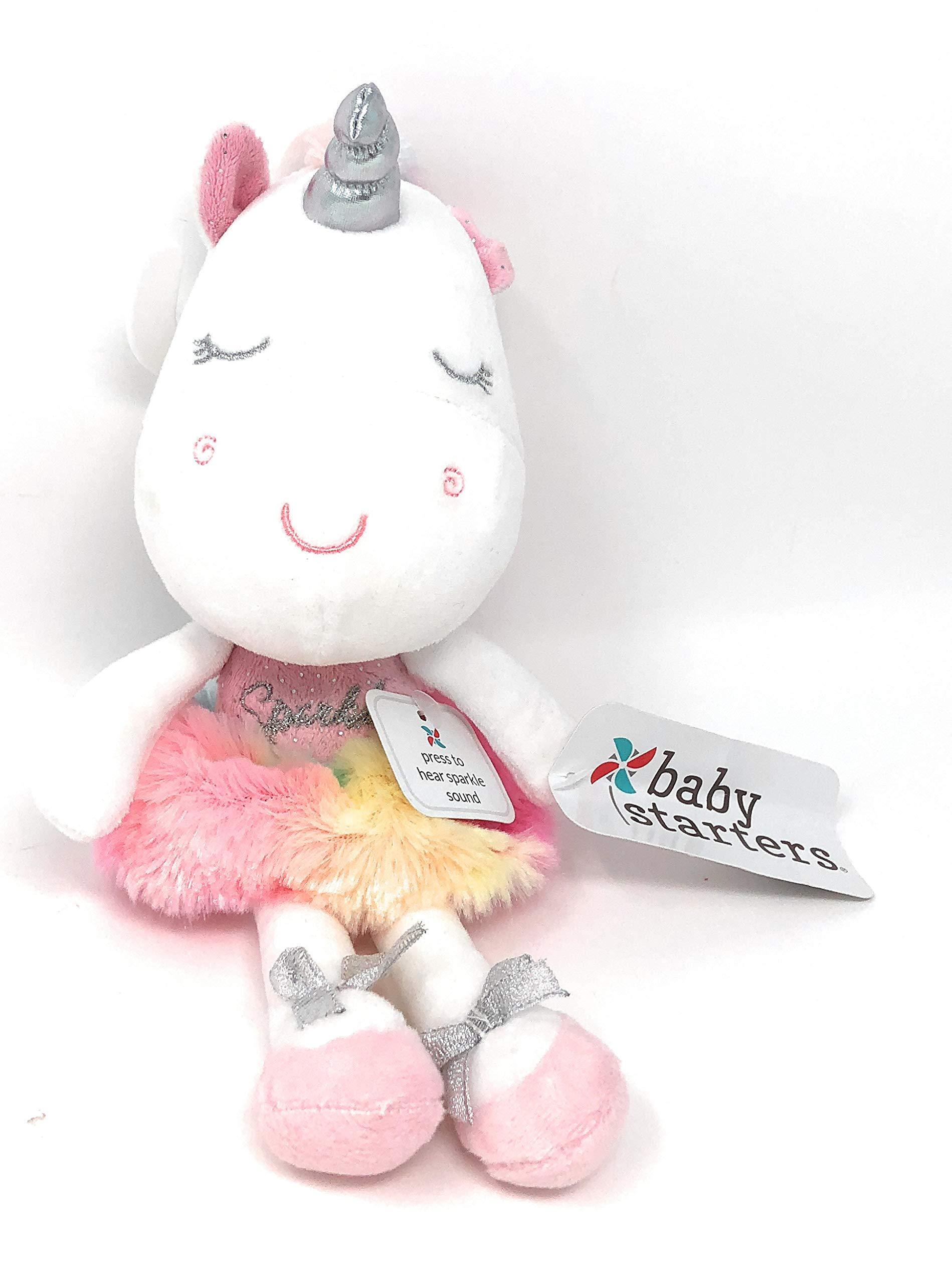 Baby Starters Ballet Tutu Rainbow Plush Unicorn ~ Dancing Ballerina | Press My Tummy to Hear Sparkle Sound | 12 in Tall