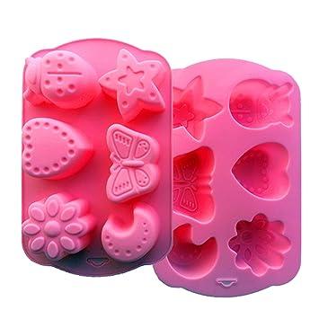 VolksRose molde de silicona para Chocolate, Gelatina Y Candy etc. - Random colors-cute mariposa: Amazon.es: Hogar