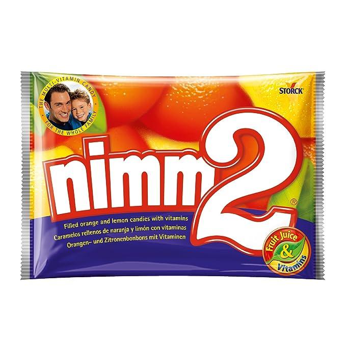 Nimm2 Caramelos Duros de Naranja y Limón Con Vitamina - Paquete de 1000 gr