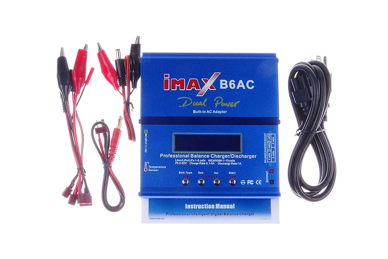 Knacro 80w Imax B6ac Balance Battery Charger B6 Ac Nimh Digital Rc Lipo And Nicd Lithium Discharger With Lcd Screen For