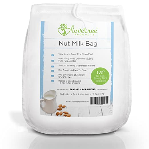 9 opinioni per Premium Nut Milk Bag- Including Free Recipe E Book Emailed After Shipping- Large