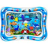 CUKU Tummy time Water Play mat Baby & Toddlers is The Perfect Fun time Play Inflatable Water mat,Activity Center Your Baby's Stimulation Growth