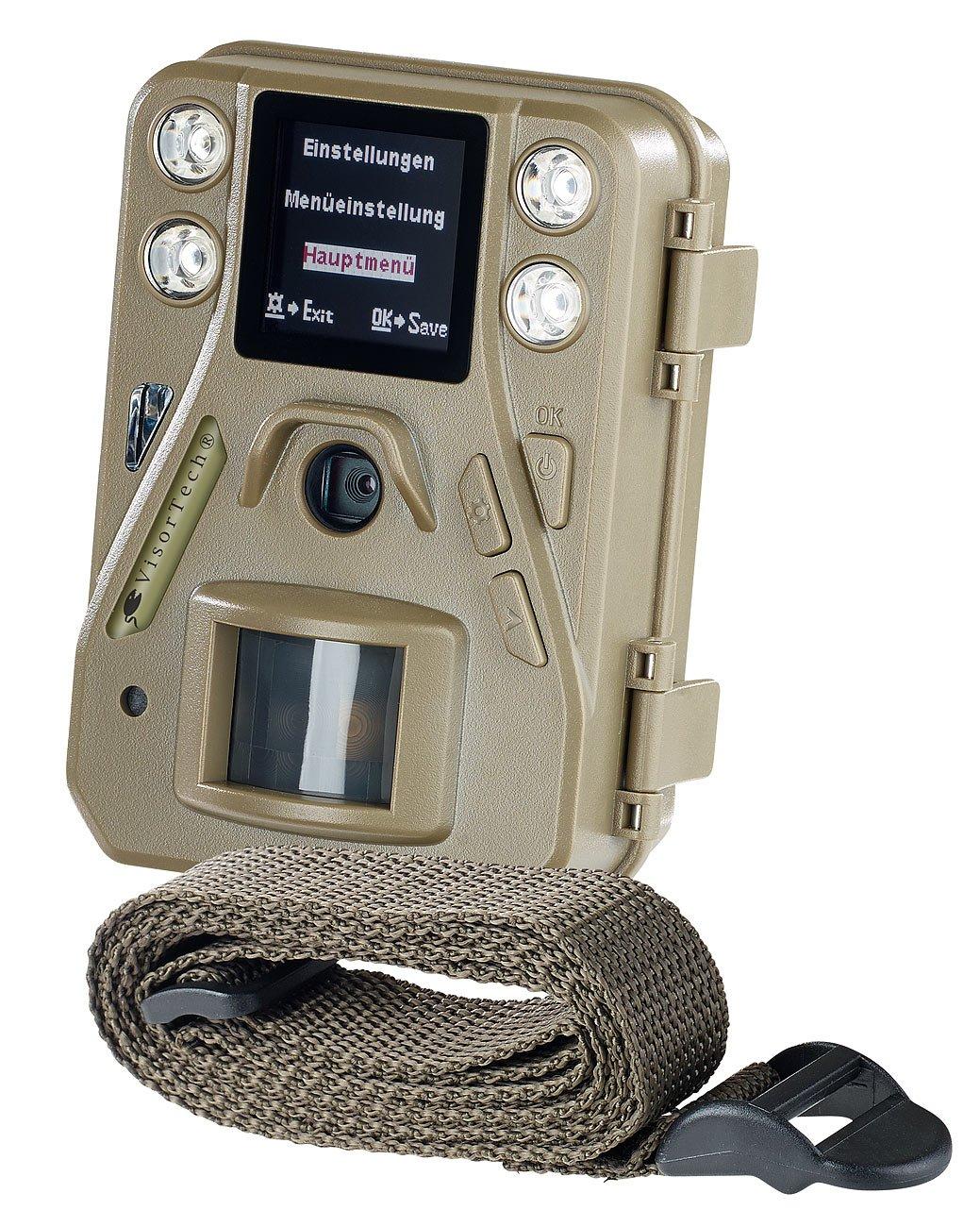 VisorTech Nachtkamera: HD-Mini-Wildkamera mit Farbdisplay & Infrarot-Nachtsicht, 12 MP, IP66 (Wildbeobachtungskamera)