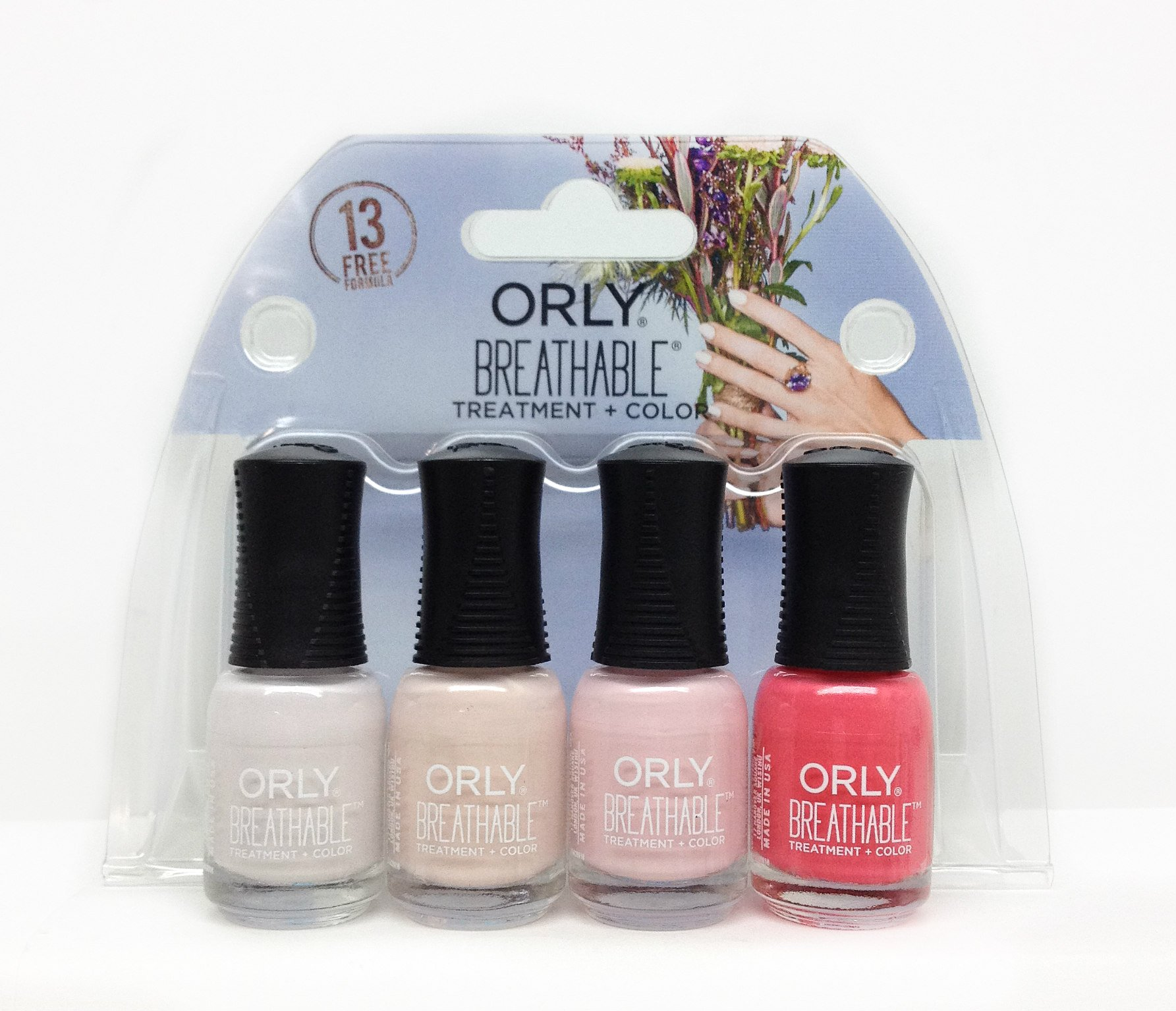 Orly Breathable Treatment Plus 061017X Color 4 Piece Mini Kit for Women