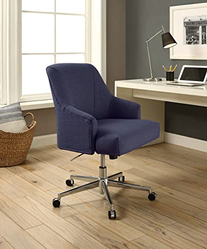 Serta Style Leighton Home Office Chair, Sanctuary Blue Twill Fabric