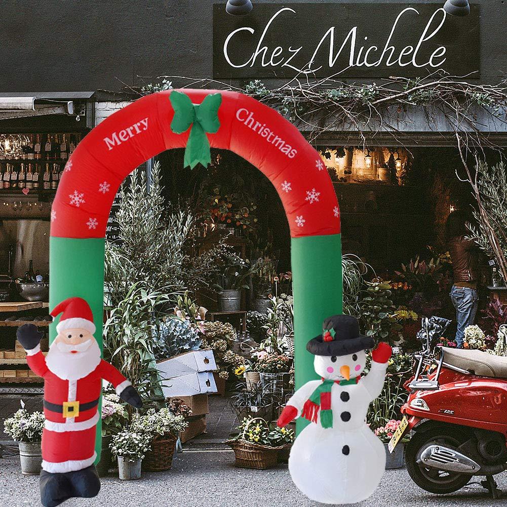 Broadroot Aufblasbarer Bogen Arch Weihnachtsmann Schneemann Weihnachten Outdoor Ornamente Ornamente Ornamente Weihnachten Neujahr Party Home Shop Garten Dekoration 8a650e