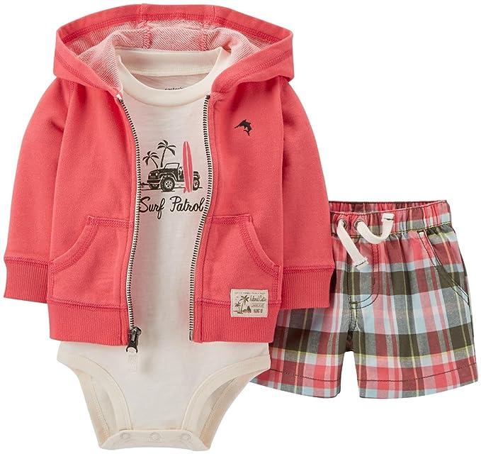 Amazon.com: Carters bebé Boys 3 piezas chaqueta de punto ...