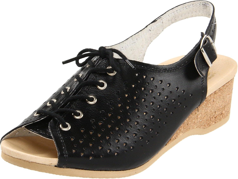 Worishofer Women's 583 Slingback Sandal B003DSH4P0 35 M EU / 5 B(M) US|Black
