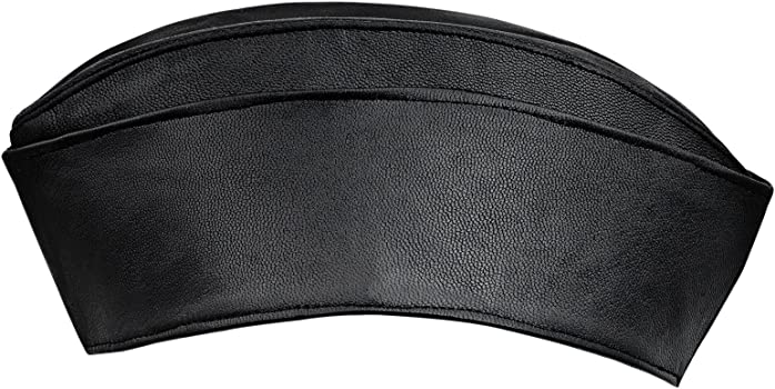 Garrison Cap Military Side Cap Brown Wool Look Envelope Style Men/'s Military Cap