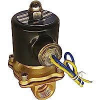 "Válvula solenoide eléctrica HFS 110 V Ac o 12 V CC para agua de gas de aire, combustibles N/C - 1/4"", 1/2"", 3/4"", 1"" NPT disponible"