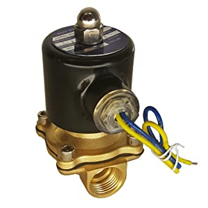 "HFS 110v Ac or 12v Dc Electric Solenoid Valve Water Air Gas, Fuels N/c - 1/4"", 1/2"", 3/4"", 1"" NPT Available (110V AC 1/2"" NPT)"