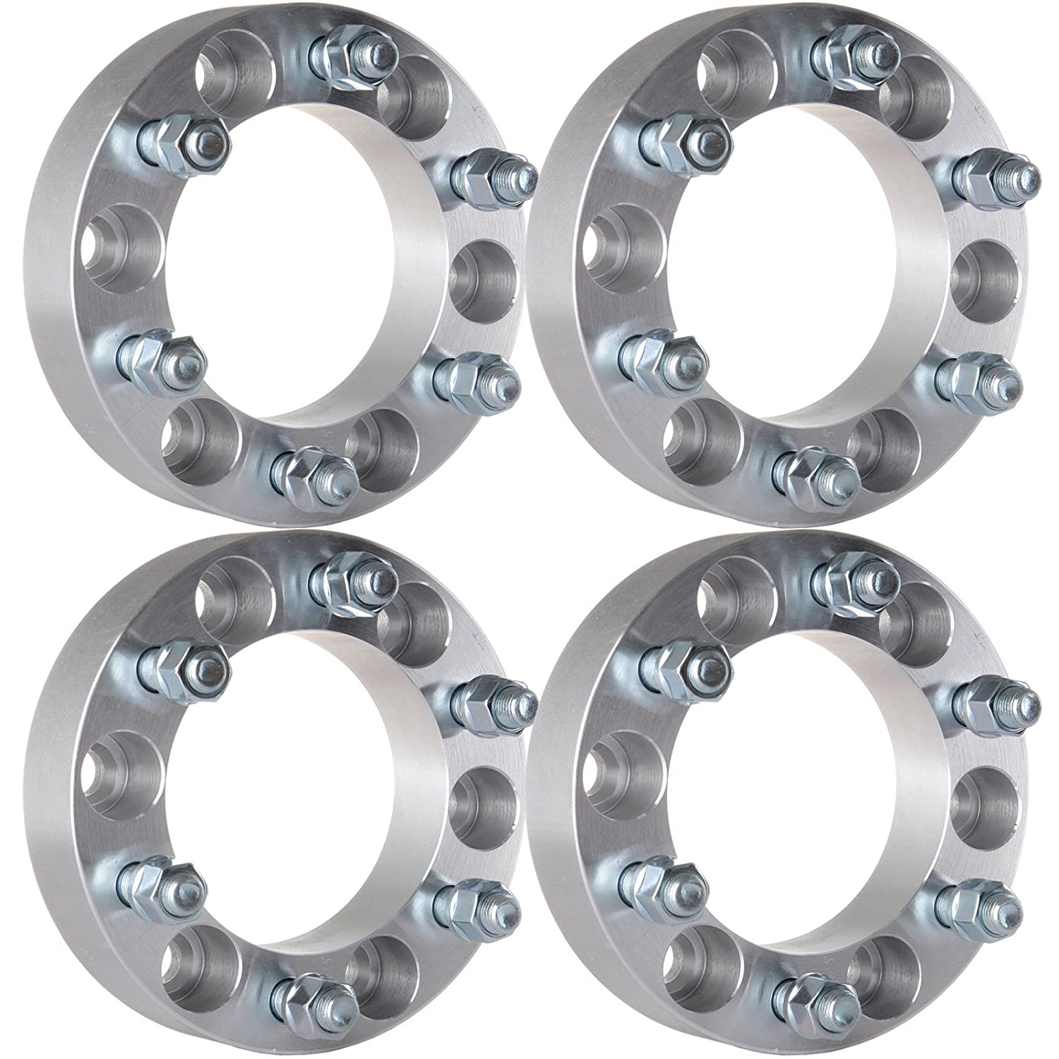 ECCPP Wheel Spacers 4PCS 1.5 inch(38mm) thick 6x5.5 to 6x5.5 Fit for 2007-2012 Chevrolet Avalanche Express 1500 Suburban 1500 Tahoe   Cadillac Escalade GMC Sierra Yukon Safari with 14x1.5 Studs 1.5inch 5x6.5
