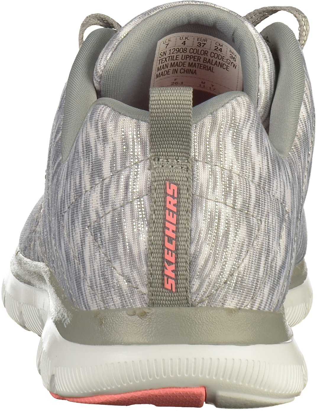 Skechers Damen Flex Appeal Grau 2.0 - Reflection Sneaker, Grau Appeal 83750a