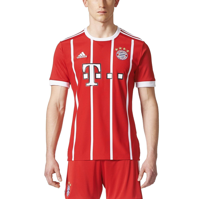 adidas Maglia CASA M/C Bianco/Rosso 17/18 Bayern Monaco