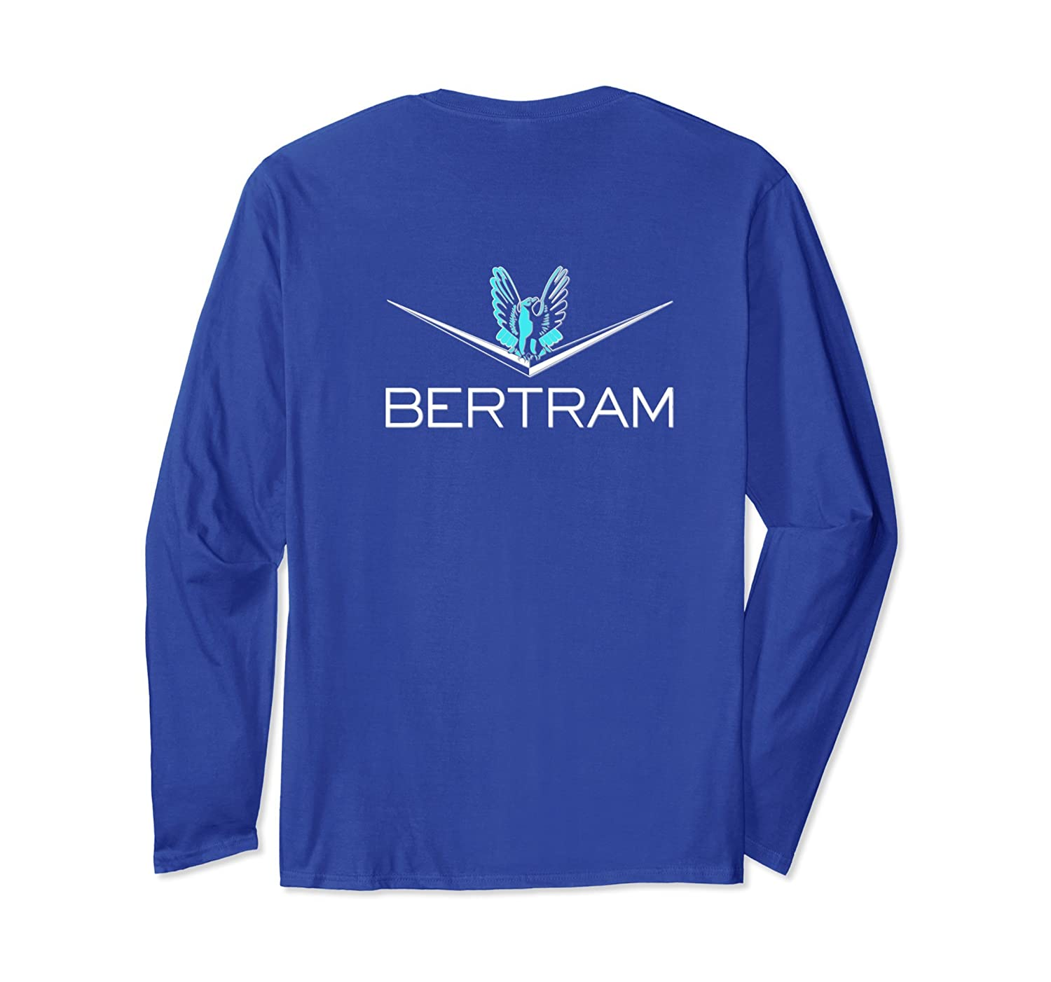 Bertram Yacht Design Printed on Back long sleeves.-alottee gift