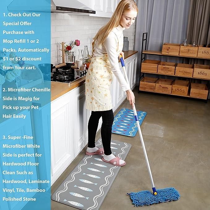 Amazon Jinclean 18 Microfiber Floor Mop Dual Side Different