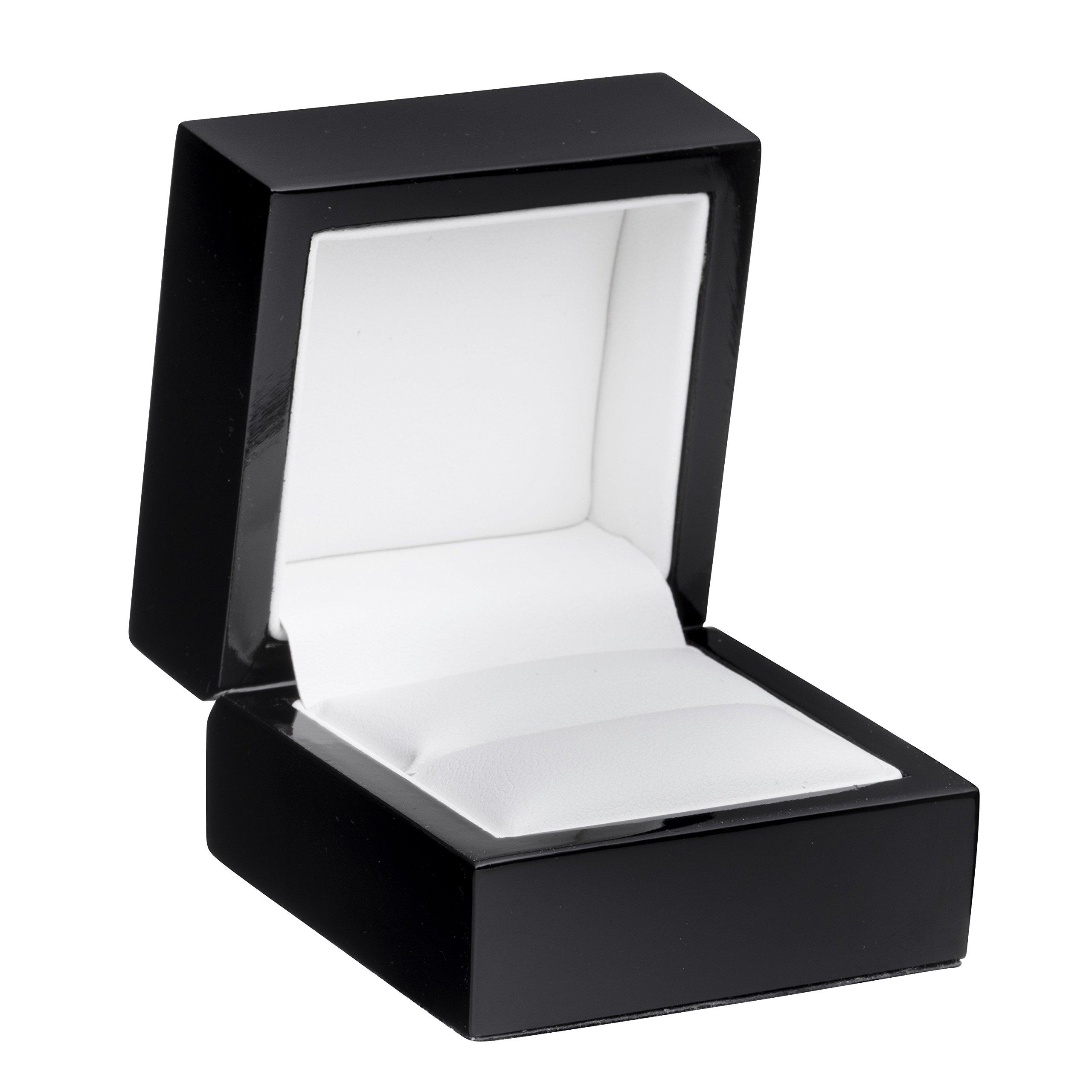 Allure Imperial Ring Box, Black