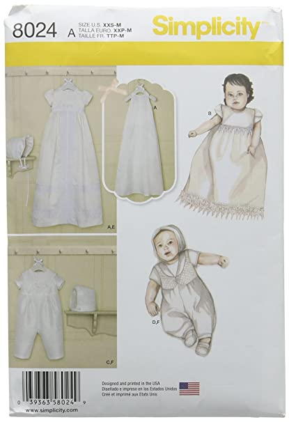 Amazon Simplicity Patterns Babies' Christening Sets with Amazing Simplicty Patterns