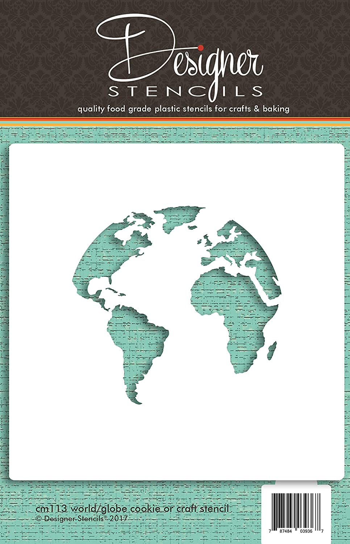 Mapa del mundo (Globe) diseño de galletas by Designer plantillas ...