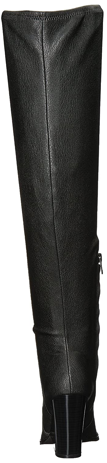 Calvin Klein Women's Catia Over The Knee Boot B073WNS21Q 5 B(M) US|Black Stretch Pebbled
