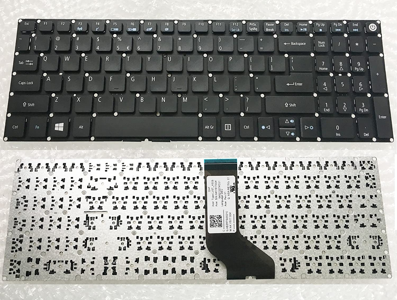wangpeng Laptop keyboard For Acer Aspire E5-575G-52RJ E5-575G-53VG E5-575G Notebook PC