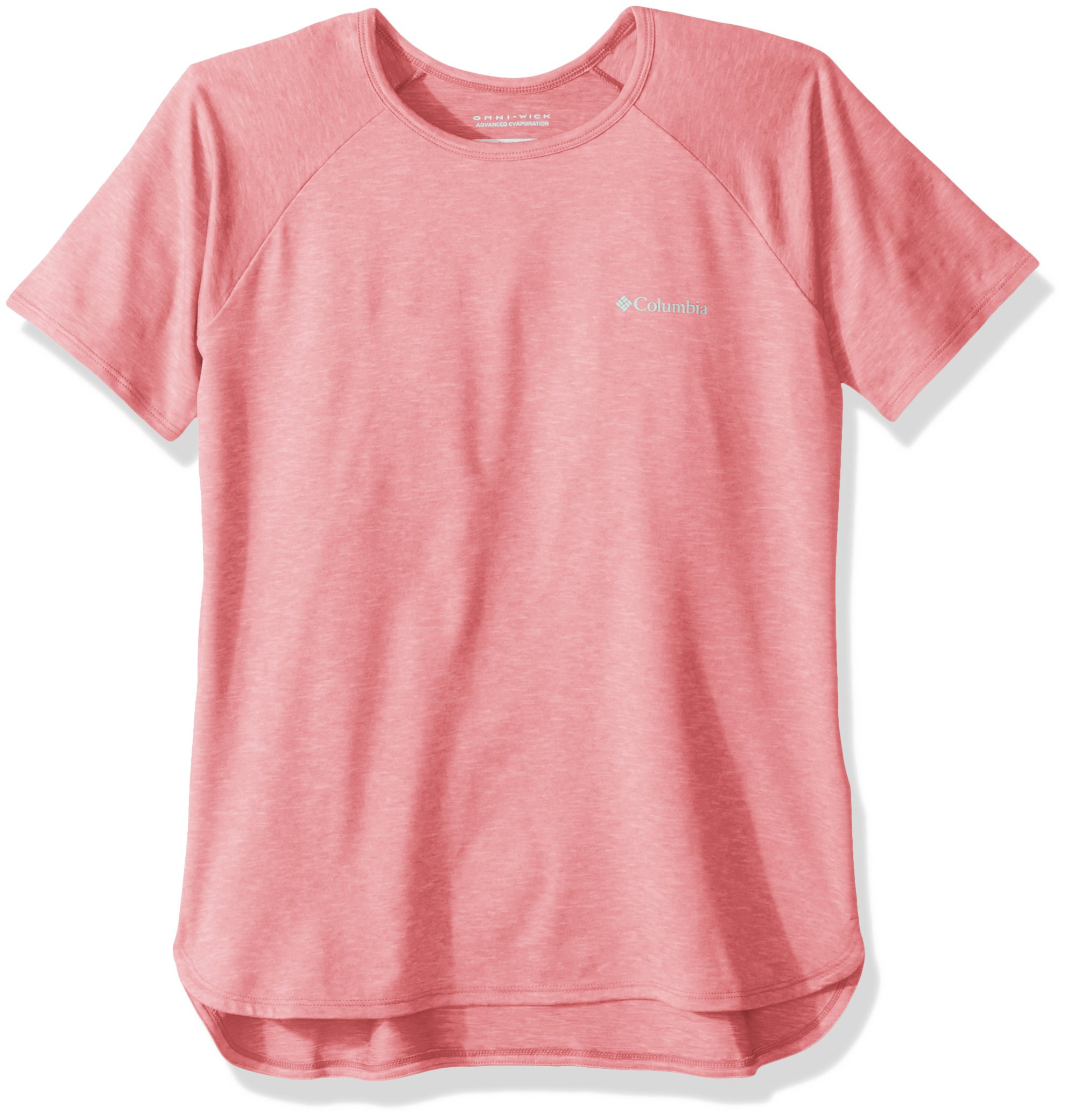 Columbia Girls Silver Ridge Ii Short Sleeve Tee, Lollipop Heather, XX-Small by Columbia