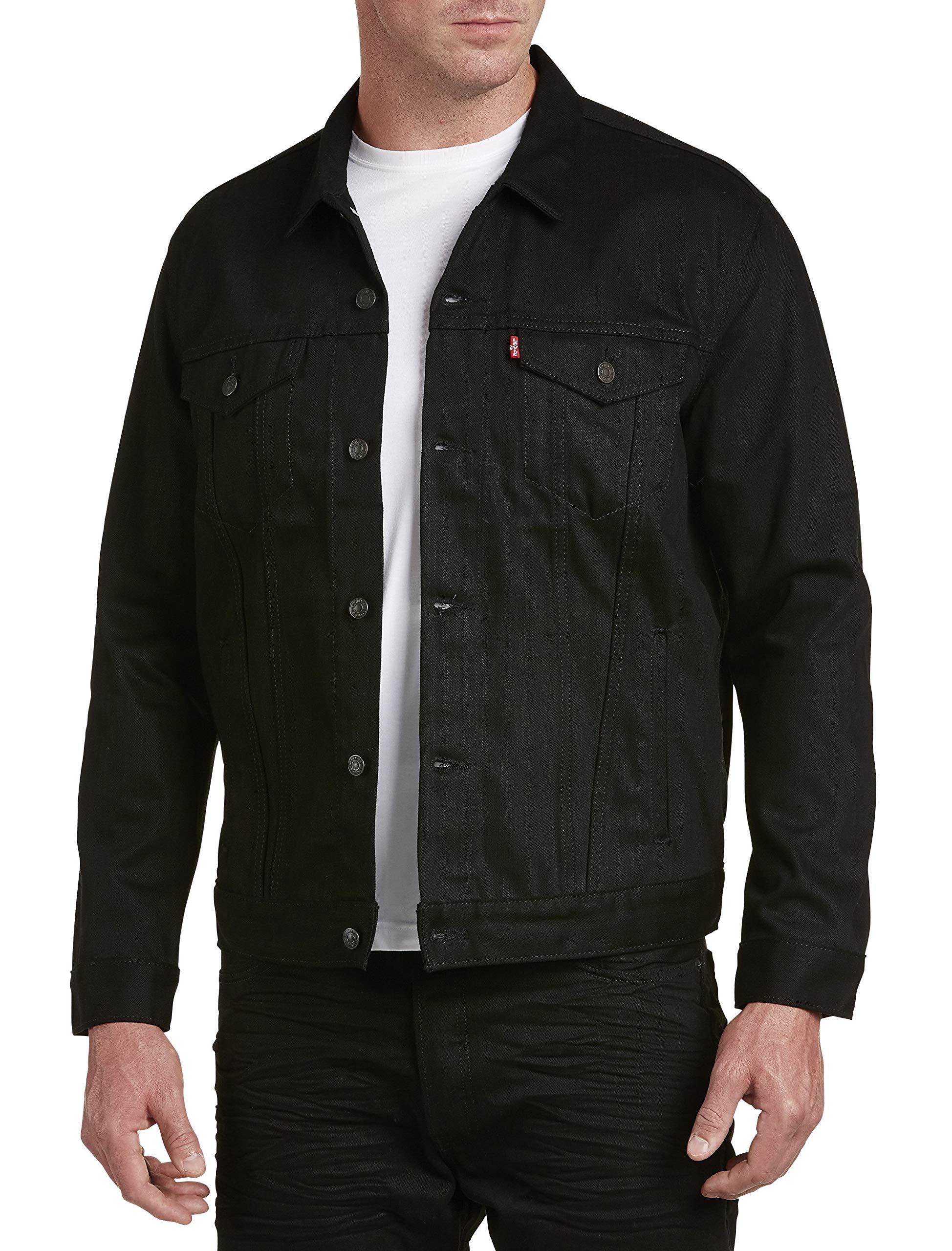 Levi's Men's Big and Tall Big & Tall Trucker Jacket, Polished Black, 4XL by Levi's
